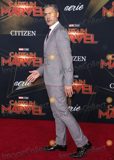 Taika Waititi Photo - HOLLYWOOD, LOS ANGELES, CA, USA - MARCH 04: Director Taika Waititi arrives at the Los Angeles Premiere Of Marvel Studios 'Captain Marvel' held at the El Capitan Theatre on March 4, 2019 in Hollywood, Los Angeles, California, United States. (Photo by David Acosta/Image Press Agency)
