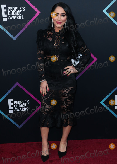 Angelina Pivarnick Photo - SANTA MONICA, LOS ANGELES, CA, USA - NOVEMBER 11: Angelina Pivarnick at the People's Choice Awards 2018 held at Barker Hangar on November 11, 2018 in Santa Monica, Los Angeles, California, United States. (Photo by Xavier Collin/Image Press Agency)