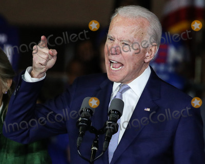 Joe Biden, Vice President Joe Biden Photo - BALDWIN HILLS, LOS ANGELES, CALIFORNIA, USA - MARCH 03: Former Vice President Joe Biden, 2020 Democratic presidential candidate, speaks during the Jill and Joe Biden 2020 Super Tuesday Los Angeles Rally held at the Baldwin Hills Recreation Center on March 3, 2020 in Baldwin Hills, Los Angeles, California, United States. (Photo by Xavier Collin/Image Press Agency)