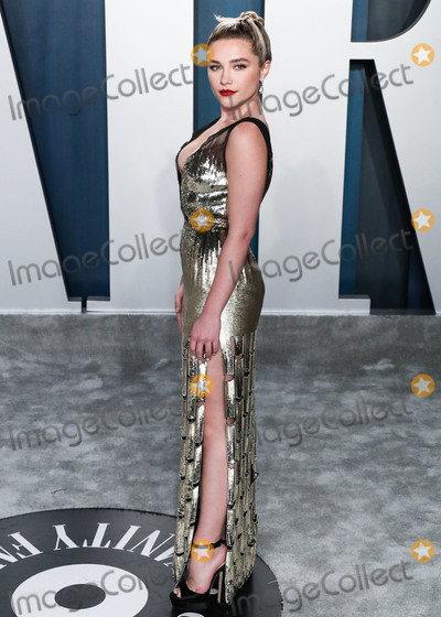 Wallis Annenberg, Florence Pugh Photo - BEVERLY HILLS, LOS ANGELES, CALIFORNIA, USA - FEBRUARY 09: Actress Florence Pugh arrives at the 2020 Vanity Fair Oscar Party held at the Wallis Annenberg Center for the Performing Arts on February 9, 2020 in Beverly Hills, Los Angeles, California, United States. (Photo by Xavier Collin/Image Press Agency)