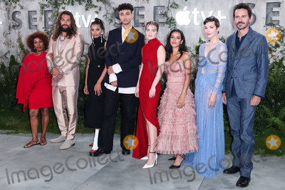 Alfre Woodard, Christian Camargo, Jason Momoa, Sylvia Hoeks, Nesta Cooper, Hera Hilmar, Yadira Guevara-Prip, Archie Madekwe Photo - WESTWOOD, LOS ANGELES, CALIFORNIA, USA - OCTOBER 21: Alfre Woodard, Jason Momoa, Nesta Cooper, Archie Madekwe, Hera Hilmar, Yadira Guevara-Prip, Sylvia Hoeks and Christian Camargo arrive at the World Premiere Of Apple TV+'s 'See' held at the Fox Village Theater on October 21, 2019 in Westwood, Los Angeles, California, United States. (Photo by Xavier Collin/Image Press Agency)