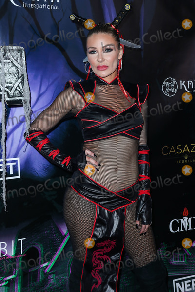 Photo - WOODLAND HILLS, LOS ANGELES, CALIFORNIA, USA - OCTOBER 19: Actress Anya Benton arrives at Karma International's 2019 Kandy Halloween Party on October 19, 2019 in Woodland Hills, Los Angeles, California, United States. (Photo by Xavier Collin/Image Press Agency)