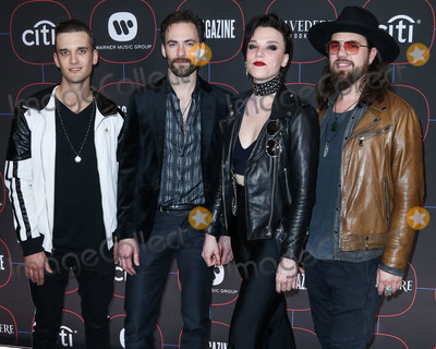 Josh Smith, Madness, Lzzy Hale Photo - LOS ANGELES, CA, USA - FEBRUARY 07: Lzzy Hale, Arejay Hale, Joe Hottinger and Josh Smith of Halestorm arrive at the Warner Music Pre-Grammy Party 2019 held at The NoMad Hotel Los Angeles on February 7, 2019 in Los Angeles, California, United States. (Photo by Xavier Collin/Image Press Agency)