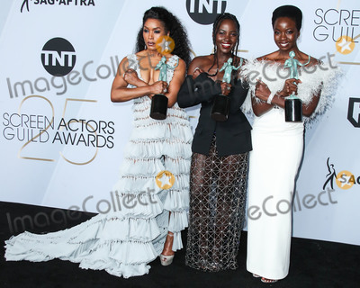 Danai Gurira, Lupita Nyong'o, Lupita  Nyong'o, Angela Basset Photo - LOS ANGELES, CA, USA - JANUARY 27: Angela Basset, Lupita Nyong'o and Danai Gurira pose in the press room at the 25th Annual Screen Actors Guild Awards held at The Shrine Auditorium on January 27, 2019 in Los Angeles, California, United States. (Photo by Xavier Collin/Image Press Agency)