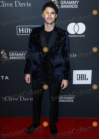 Clive Davis, Darren Criss Photo - BEVERLY HILLS, LOS ANGELES, CA, USA - FEBRUARY 09: Actor Darren Criss arrives at The Recording Academy And Clive Davis' 2019 Pre-GRAMMY Gala held at The Beverly Hilton Hotel on February 9, 2019 in Beverly Hills, Los Angeles, California, United States. (Photo by Xavier Collin/Image Press Agency)