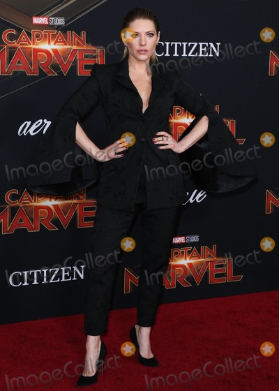 Katheryn Winnick Photo - HOLLYWOOD, LOS ANGELES, CA, USA - MARCH 04: Actress Katheryn Winnick arrives at the Los Angeles Premiere Of Marvel Studios 'Captain Marvel' held at the El Capitan Theatre on March 4, 2019 in Hollywood, Los Angeles, California, United States. (Photo by David Acosta/Image Press Agency)