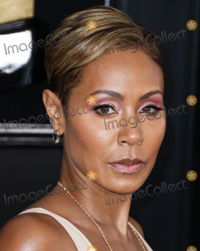 Photo - LOS ANGELES, CA, USA - FEBRUARY 10: Actress Jada Pinkett Smith wearing Roberto Cavalli arrives at the 61st Annual GRAMMY Awards held at Staples Center on February 10, 2019 in Los Angeles, California, United States. (Photo by Xavier Collin/Image Press Agency)