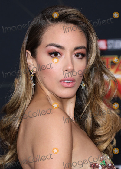 Chloe Bennet Photo - HOLLYWOOD, LOS ANGELES, CA, USA - MARCH 04: Actress Chloe Bennet wearing a Galia Lahav dress and Sam Edelman shoes arrives at the Los Angeles Premiere Of Marvel Studios 'Captain Marvel' held at the El Capitan Theatre on March 4, 2019 in Hollywood, Los Angeles, California, United States. (Photo by David Acosta/Image Press Agency)