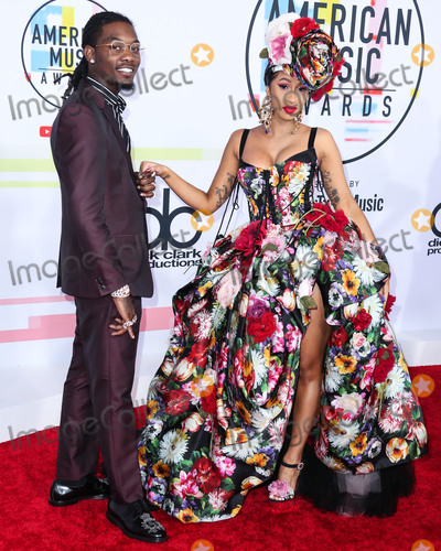 Cardi B., Cardi B Photo - (FILE) Cardi B Files for Divorce from Offset After 3 Years of Marriage. LOS ANGELES, CALIFORNIA, USA - OCTOBER 09: Rapper Offset (Kiari Kendrell Cephus) and wife/rapper Cardi B (Belcalis Marlenis Almanzar) arrive at the 2018 American Music Awards held at the Microsoft Theatre L.A. Live on October 9, 2018 in Los Angeles, California, United States. (Photo by Xavier Collin/Image Press Agency)