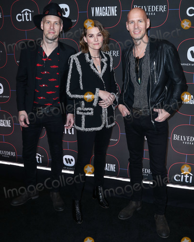 Brandi Carlile, Brandy, Madness Photo - LOS ANGELES, CA, USA - FEBRUARY 07: Tim Hanseroth, Brandi Carlile and Phil Hanseroth arrive at the Warner Music Pre-Grammy Party 2019 held at The NoMad Hotel Los Angeles on February 7, 2019 in Los Angeles, California, United States. (Photo by Xavier Collin/Image Press Agency)
