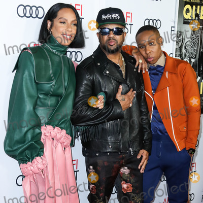 Queen, The-Dream, The Dream, TCL Chinese Theatre, Lena Waithe, Melina Matsoukas Photo - HOLLYWOOD, LOS ANGELES, CALIFORNIA, USA - NOVEMBER 14: Melina Matsoukas, The-Dream and Lena Waithe arrive at the AFI FEST 2019 - Opening Night Gala - Premiere Of Universal Pictures' 'Queen And Slim' held at the TCL Chinese Theatre IMAX on November 14, 2019 in Hollywood, Los Angeles, California, United States. (Photo by Xavier Collin/Image Press Agency)