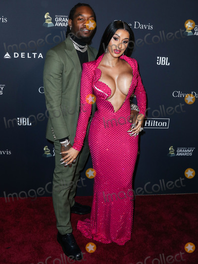 Clive Davis, Cardi B., Cardi B Photo - (FILE) Cardi B Files for Divorce from Offset After 3 Years of Marriage. BEVERLY HILLS, LOS ANGELES, CALIFORNIA, USA - JANUARY 25: Rapper Offset (Kiari Kendrell Cephus) and wife/rapper Cardi B (Belcalis Marlenis Almanzar) arrive at The Recording Academy And Clive Davis' 2020 Pre-GRAMMY Gala held at The Beverly Hilton Hotel on January 25, 2020 in Beverly Hills, Los Angeles, California, United States. (Photo by Xavier Collin/Image Press Agency)