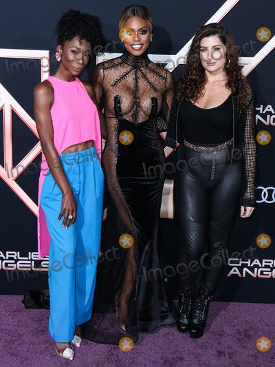 Laverne Cox, Trace Lysette, Trace Lysett, Angelica Ross Photo - WESTWOOD, LOS ANGELES, CALIFORNIA, USA - NOVEMBER 11: Angelica Ross, Laverne Cox and Trace Lysette arrive at the Los Angeles Premiere Of Columbia Pictures' 'Charlie's Angels' held at the Westwood Regency Theater on November 11, 2019 in Westwood, Los Angeles, California, United States. (Photo by Xavier Collin/Image Press Agency)