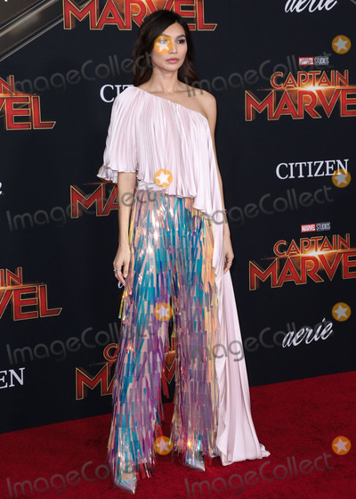 Gemma Chan Photo - HOLLYWOOD, LOS ANGELES, CA, USA - MARCH 04: Actress Gemma Chan wearing Ralph and Russo arrives at the Los Angeles Premiere Of Marvel Studios 'Captain Marvel' held at the El Capitan Theatre on March 4, 2019 in Hollywood, Los Angeles, California, United States. (Photo by David Acosta/Image Press Agency)