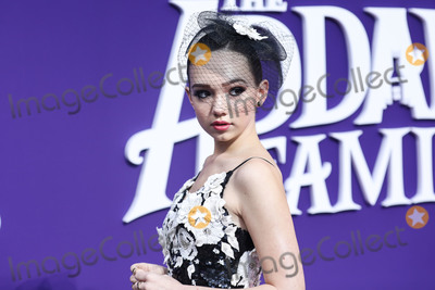 Alice & Olivia, Alice + Olivia, Ruby Jay Photo - CENTURY CITY, LOS ANGELES, CALIFORNIA, USA - OCTOBER 06: Actress Ruby Jay wearing an Alice + Olivia dress with Aldo shoes and rings arrives at the World Premiere Of MGM's 'The Addams Family' held at the Westfield Century City AMC on October 6, 2019 in Century City, Los Angeles, California, United States. (Photo by Xavier Collin/Image Press Agency)