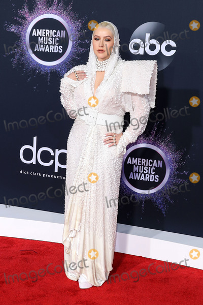 Christina Aguilera, Jean-Paul Gaultier Photo - LOS ANGELES, CALIFORNIA, USA - NOVEMBER 24: Singer Christina Aguilera wearing a Jean Paul Gaultier ensemble arrives at the 2019 American Music Awards held at Microsoft Theatre L.A. Live on November 24, 2019 in Los Angeles, California, United States. (Photo by Xavier Collin/Image Press Agency)