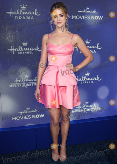 ASHLEY NEWBROUGH Photo - BEVERLY HILLS, LOS ANGELES, CALIFORNIA, USA - JULY 26: Ashley Newbrough arrives at the Hallmark Channel And Hallmark Movies And Mysteries Summer 2019 TCA Press Tour Event held at a Private Residence on July 26, 2019 in Beverly Hills, Los Angeles, California, United States. (Photo by Xavier Collin/Image Press Agency)