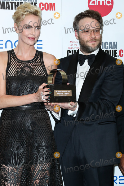 Charlize Theron, Seth Rogen Photo - BEVERLY HILLS, LOS ANGELES, CALIFORNIA, USA - NOVEMBER 08: Charlize Theron and Seth Rogen attend the 33rd American Cinematheque Award Presentation Honoring Charlize Theron held at The Beverly Hilton Hotel on November 8, 2019 in Beverly Hills, Los Angeles, California, United States. (Photo by Xavier Collin/Image Press Agency)