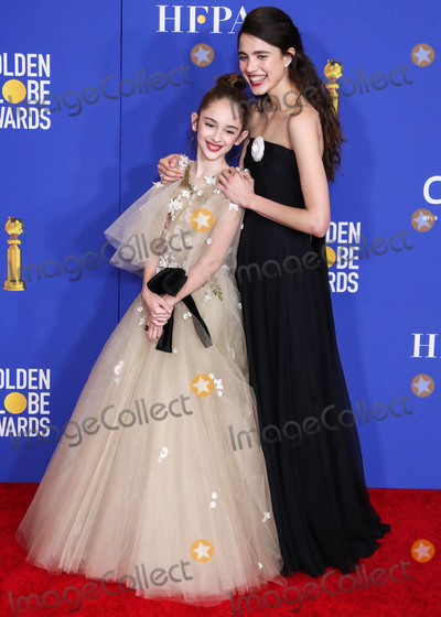 Margaret Qualley, Julia Butters, Margaret Madè Photo - BEVERLY HILLS, LOS ANGELES, CALIFORNIA, USA - JANUARY 05: Julia Butters and Margaret Qualley pose in the press room at the 77th Annual Golden Globe Awards held at The Beverly Hilton Hotel on January 5, 2020 in Beverly Hills, Los Angeles, California, United States. (Photo by Xavier Collin/Image Press Agency)