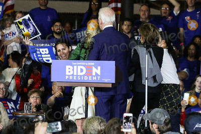 Jill Biden, Joe Biden, Vice President Joe Biden Photo - BALDWIN HILLS, LOS ANGELES, CALIFORNIA, USA - MARCH 03: Former Vice President Joe Biden, 2020 Democratic presidential candidate, right, watches as his wife Jill Biden, center, blocks a protester holding a sign that reads 'Let Dairy Die', from arriving on stage during the Jill and Joe Biden 2020 Super Tuesday Los Angeles Rally held at the Baldwin Hills Recreation Center on March 3, 2020 in Baldwin Hills, Los Angeles, California, United States. (Photo by Xavier Collin/Image Press Agency)