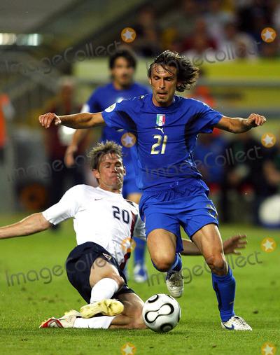 Andrea Pirlo, Brian McBride Photo - Brian Mcbride & Andrea Pirlo Challenge Italy V USA K48351 World Cup Soccer 06-17-2006 Photo by Allstar-Globe Photos