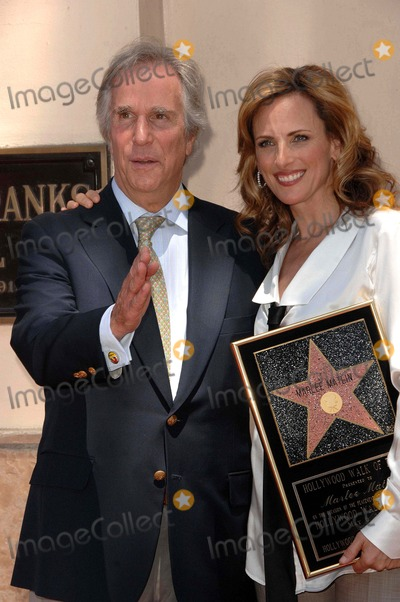 """Marlee Matlin, Henry Winkler Photo - """"Marlee Matlin"""" Honored with Star on the Hollywood Walk of Fame Hollywood Blvd, Hollywood, CA 05/06/09 Marlee Matlin and Henry Winkler Photo: Clinton H. Wallace-photomundo-Globe Photos Inc"""