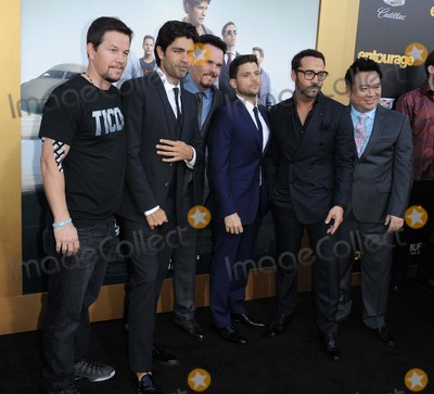 "Adrien Grenier, Jeremy Piven, Jeremy Pivens, Jerry Ferrara, Kevin Dillon, Mark Wahlberg, Rex Lee Photo - Mark Wahlberg, Adrien Grenier, Kevin Dillon, Jerry Ferrara, Jeremy Piven, Rex Lee attending the Los Angeles Premiere of ""Entourage"" Held at the Regency Village Theater in Westwood, California on June 1, 2015 Photo by: D. Long- Globe Photos Inc."