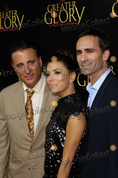 Samuel Goldwyn, Andy Garcia, Nestor Carbonell, Eva Longoria Photo - Andy Garcia, Eva Longoria and Nestor Carbonell During the Premiere of the New Movie From Arc Entertainment For Greater Glory, Held at the Academy of Motion Picture Arts and Sciences Samuel Goldwyn Theatre, on May 31, 2012, in Beverly Hills, California. Photo: Michael Germana - Globe Photos, Inc.