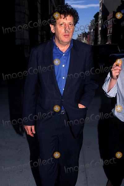 Phillip Glass, Allen Ginsberg, Jonathan Greening Photo - Allen Ginsberg Memorial Service , New York City 04/04/1997 Photo: Jonathan Green/ Globe Photos Inc. 1997 Phillip Glass