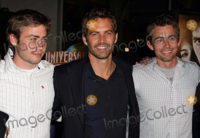 Paul Walker, Cody Walker, Caleb Walker Photo - Cody Walker, Paul Walker, Caleb Walker Actor & Brothers Premiere of the New Movie From Universal Pictures Fast and Furious, Held at the Gibson Amphitheatre, on March 12, 2009, in Los Angeles. Photo by Graham Whitby Boot-allstar-Globe Photos, Inc. 2009