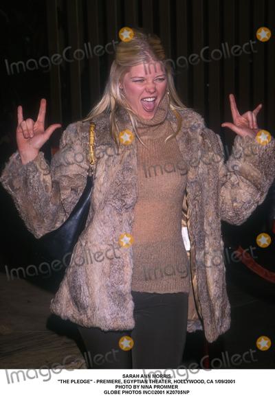 "Sarah Ann Morris Photo - Sarah Ann Morris ""the Pledge"" - Premiere, Egyptian Theater, Hollywood, CA 1/09/2001 Photo by Nina Prommer Globe Photos Inc2001"