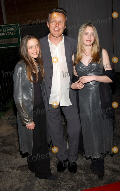 Anthony Head, Anthony Stewart Head, Emily Rose, Slayer, Buffie Photo - . Party to Celebrate the Final Buffy the Vampire Slayer Series. at Miauhaus in Los Angeles, CA. 4/18/2003 . Photo by Fitzroy Barrett / Globe Photos Inc. 2003 Anthony Stewart Head and and His Daughters Daisy May and Emily Rose