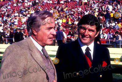Curt Gowdy, Hank Stram Photo - Curt Gowdy and Hank Stram Photo: Bill Crespinel / Globe Photos Inc Hankstramretro