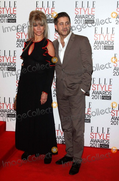Jo Wood, Rolling Stones, Ron Wood, Tyrone Wood, Jo Woods, Ron Woods Photo - Ron Wood's (Rolling Stones) Estranged Wife Jo Wood and Her Son Tyrone Wood Attend the 2011 Elle Style Awards Awards at Grand Connaught Rooms in London, Great Britain, on 14 February 2011. Alec Michael - Globe Photos, Inc. 2011