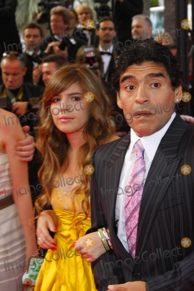 """Diego Maradona, Diego Armando Maradona Photo - Maradona and Daughter Arriving at the Premiere of """"Che"""" During the 2008 Cannes Film Festival at Palais Des Festivals in Cannes, France on 05-21-2008 Photo by Alec Michael-Globe Photos, Inc. K58451am Diego Armando Maradona and Daughter Dalma"""