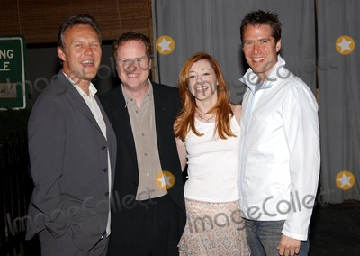 Alexis Denisof, Alyson Hannigan, Anthony Stewart Head, Joss Whedon, Slayer, Buffie Photo - . Party to Celebrate the Final Buffy the Vampire Slayer Series. at Miauhaus in Los Angeles, CA. 4/18/2003 . Photo by Fitzroy Barrett / Globe Photos Inc. 2003 Anthony Stewart Head, Joss Whedon with Alyson Hannigan and Her Fiance Alexis Denisof