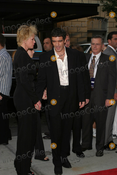"Antonio Banderas, Melanie Griffith, Melanie Griffiths Photo - ""and Starring Pancho Villa As Himself"" Premiere at Loews 34th Street, New York City 08/18/2003 Photo by Rick Mackler/rangefinder/Globe Photos, Inc. 2003 Antonio Banderas and Melanie Griffith"
