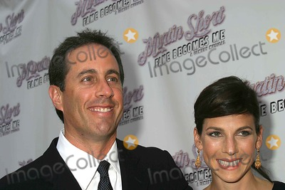 """Jerry Seinfeld, Martin Short Photo - Red Carpet Arrivals For the Opening Night on Broadway For """" Martin Short-fame Becomes ME"""" at the Bernard B. Jacobs Theatre West 45th Street 08-17-2006 Photos by Paul Schmulbach-Globe Photos Inc. 2006 Jerry Seinfeld Jessica Sklar-seinfeld"""