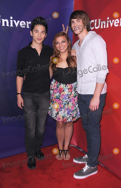 Abraham Lim, Blake Jenner, Aylin Bayramuglu Photo - NBC Universal Summer Press Tour at the Beverly Hilton in Beverly Hills, CA 7/25/12 Photo by James Diddick-Globe Photos copyright 2012 Abraham Lim, Aylin Bayramuglu, Blake Jenner