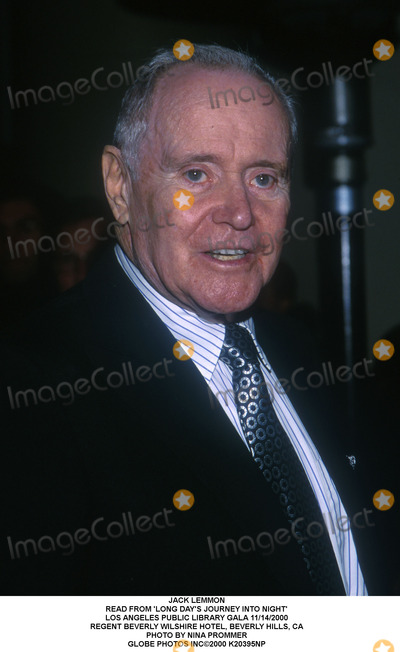 Jack Lemmon, Journey Photo - Jack Lemmon Read From 'Long Day's Journey Into Night' Los Angeles Public Library Gala 11/14/2000 Regent Beverly Wilshire Hotel, Beverly Hills, CA Photo by Nina Prommer Globe Photos Inc2000