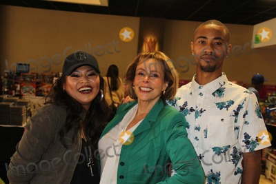 "Photo - ""Working Dreams"" Annual Holiday Toy Drive Courtyard Marriott, Culver City, CA 12/22/2014 Josephine Roberto, Lola Levoy and Rey Reel Clinton H. Wallace/ipol/Globe Photos Inc"