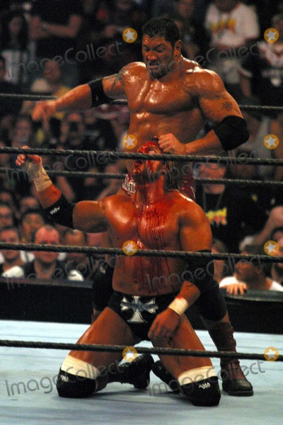 Batista vs triple h wrestlemania 21