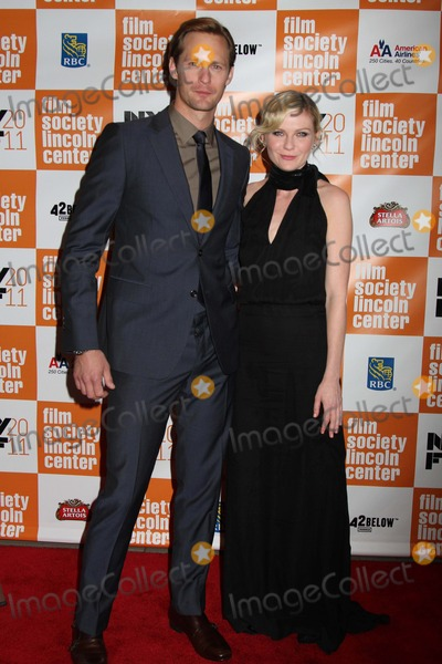 """Kirsten Dunst, Alexander Skarsgaard Photo - The 49th Annual New York Film Festival Presents the Nyff Presentation of """"Melancholia"""" Alice Tully Hall, NYC October 3, 2011 Photos by Sonia Moskowitz, Globe Photos Inc 2011 Alexander Skarsgaard, Kirsten Dunst"""
