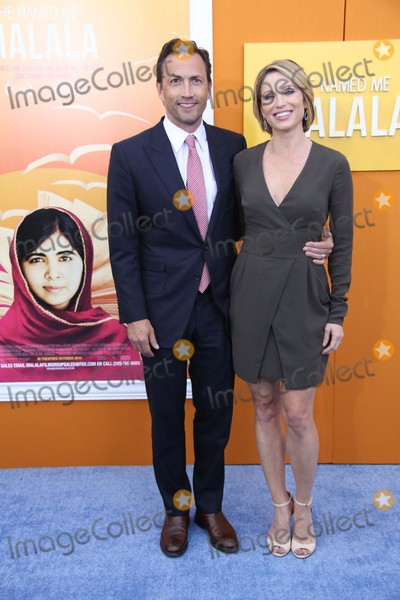 """Amy Robach, Andrew Shue Photo - Andrew Shue and Amy Robach Attend the New York Premiere of """"He Named Me Malala"""" the Ziegfeld Theater, NYC September 24, 2015 Photos by Sonia Moskowitz, Globe Photos Inc"""