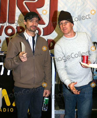 "Opie and Anthony, Anthony Cumia, Opie & Anthony Photo - Xm Radio's Opie & Anthony Sign Autographs at J & R Music and Computer World New York City 12-14-2005 Photo by William Regan-Globe Photos 2005 Gregg ""Opie"" Hughes with Anthony Cumia"