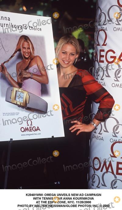 Anna Kournikova Photo - : Omega Unveils New Ad Campaign with Tennis Star Anna Kournikova at the Espn Zone, NYC. 11/20/2000 Photo by Walter Weissman/Globe Photos, Inc.