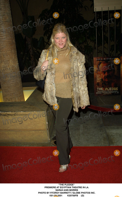 "Sarah Ann Morris Photo - ""The Pledge"" Premiere at Egyptian Theatre in LA. Sarah Ann Morris Photo by Fitzroy Barrett / Globe Photos Inc. 01-09-2001 K20706fb (D)"