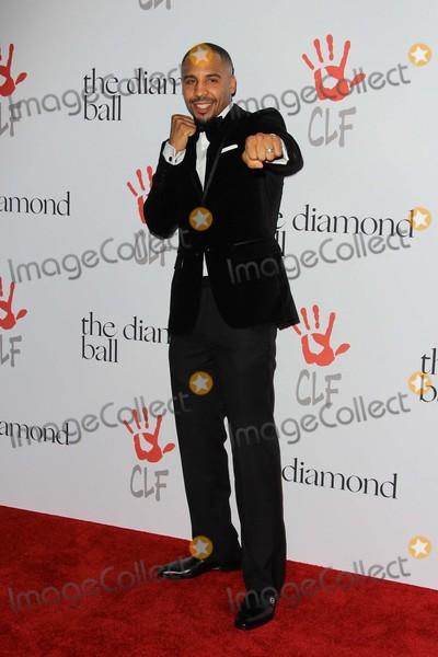 Rihanna, Andre Ward Photo - Andre Ward attends Rihanna's Clara Lionel Foundation 2nd Annual Diamond Ball on December 10th, 2015 at the Barker Hangar in Santa Monica, California.photo:tony Lowe/Globephotos