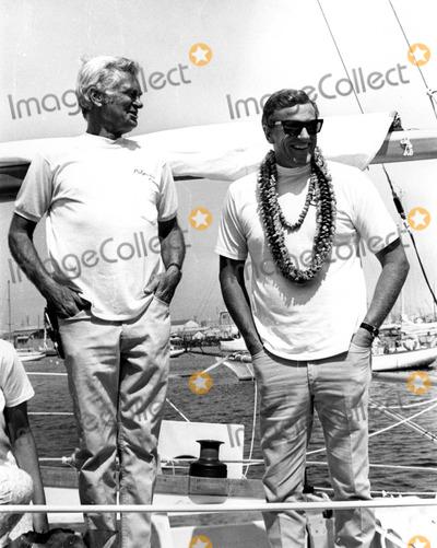 "Buddy Ebsen, James Arness Photo - Buddy Ebsen and James Arness Aboard ""Poleynesian Concept"" (Ebsens Yacht) Trans-pacific Yacht Race 07/04/68 Photo by Phil Roach/Globe Photos, Inc. 1968 Buddyebsenretro"