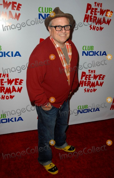 "Bobcat Goldthwait, Pee-wee Herman Photo - Bobcat Goldthwait attends Opening Night Red Carpet of the ""pee-wee Herman Show"" Held at the Nokia Theatre in Los Angeles, CA. 01-20-10 Photo by: D. Long- Globe Photos Inc. 2009"